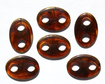 Vintage Acrylic Tortoise Oval Connector Drops 32mm X 22mm bds131