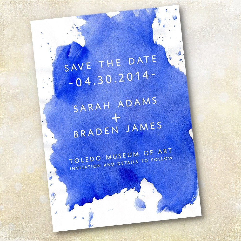 Golden Save The Date For Wedding Invitation Wedding: Wedding Invitation Or Save The Date Design Fee By