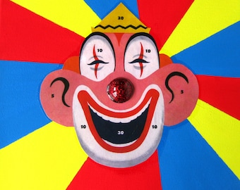 Clown Collage // Vintage Clown Art // Circus Home Decor