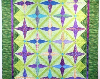 Green and purple childs quilt