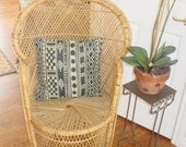 Vintage Rattan Chair Pillow Not Included  Reasonable shipping   REDUCED