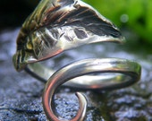 Sylvan Leaf Ring, Hand Forged in Sterling Silver