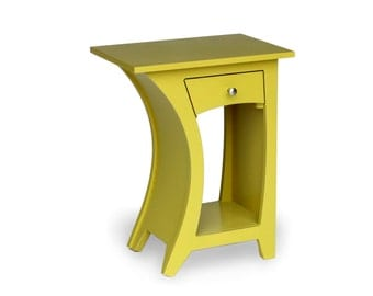 Chartreuse Side Table - Reversible with Drawer