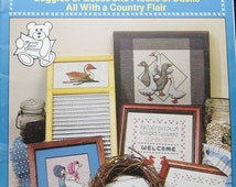 Vintage Country Quackers Geese Cross Stitch Pattern Book