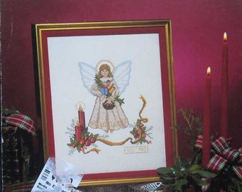 Vintage Noel Angel Cross Stitch Pattern