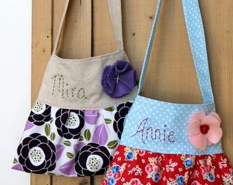 personalization add on little girls purse handbag purse custom embroidery