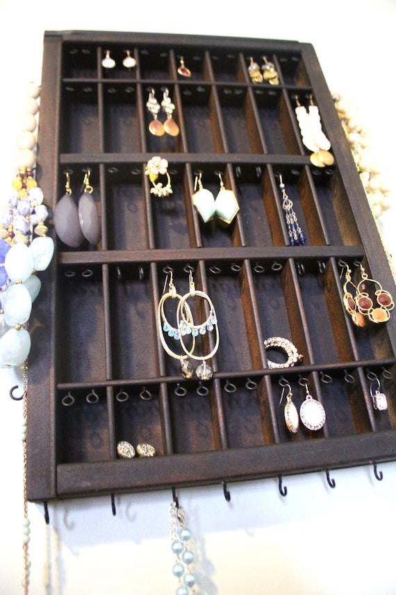 Jewelry Display Dark Wood