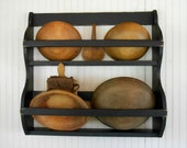 Primitive Early American Bowl Rack Style 3