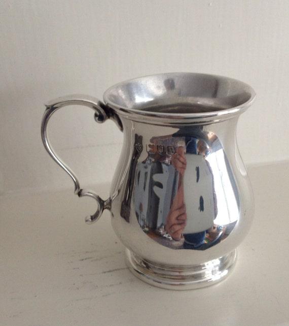 1910 Christening Mug Sterling Silver by Edward Barnard Sons Ltd of London