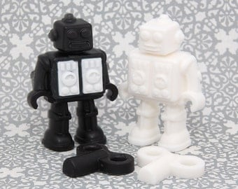 Wedding Robots from Space Soap - Handmade Glycerin and Shea Butter Soap - Set of 2