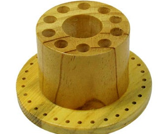 Wooden Tool Stand For Burrs & Saw Blades