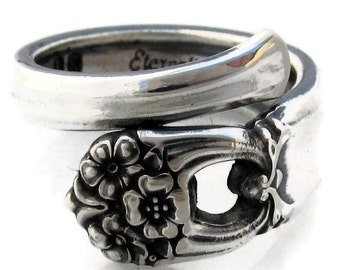Spoon Ring Size 5 to 8 Demitasse Wrapped King Eternally yours