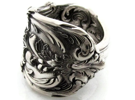 Francis I Sterling Silver Spoon Ring Size 6-13 Heavy