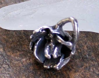 Lotus Flower Charm Sterling Silver SALE