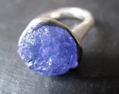 CUSTOM ring for Angelika - TANZANITE // Sterling silver ring with natural raw Tanzanite