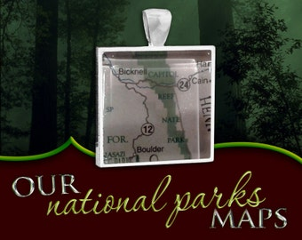 Capitol Reef National Park Map Pendant