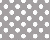 Riley Blake Grey Dot Flannel Fabric, 1 yard