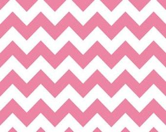 Riley Blake Chevron Hot Pink Flannel Fabric, 1 yard