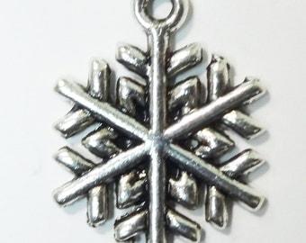10 Snowflake Charms 20x15x1.5mm ITEM:AH3