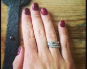 Twig Stack Ring in Silver