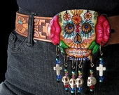 Skull buckle, Day of the Dead sugar skull calavera Original Spirit Buckle