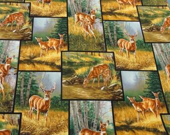 Blocks of Whitetail Deer Pillowcase