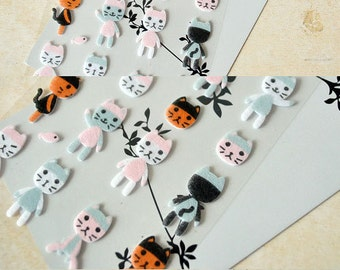 Felt Stickers (P163.28 - Cat)