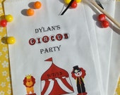 Circus Party Favors -  Circus Candy Bags - Kids Favor Bags