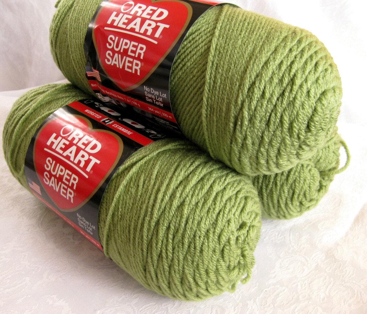 Red Heart Yarn : Red Heart Super Saver yarn TEA LEAF Green yarn by crochetgal