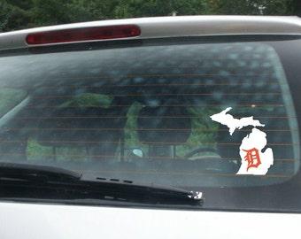 Detroit Michigan D - V12 -  Vinyl Car Window Decal