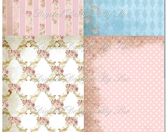 Instant Download - Paper Pack 600P - High quality Collage Sheet - Printable Download - Gift Tags - Scrapbook