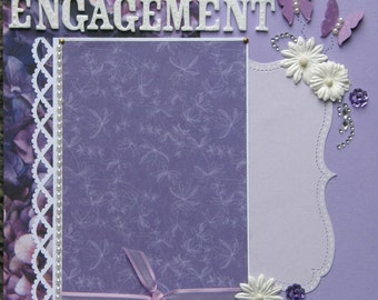 Pre-made Bridal Wedding Twenty  8x8 scrapbook pages pre-made one of a kind