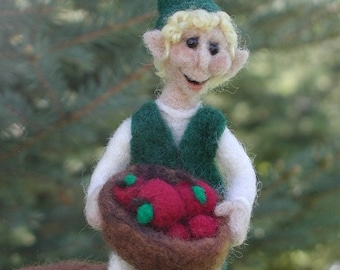 Toadstool Elf Needle Felted