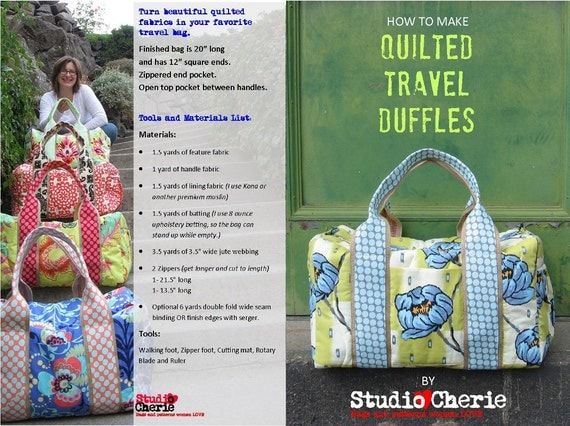 Wholesale Printed Patterns Quilted Duffle
