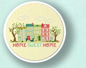 Home Sweet Home. Best Seller Apartment Living Cross Stitch Pattern. PDF Instant Download