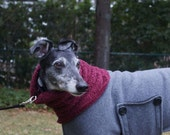Curly Fleece Neck Warmer for Greyhounds and other Large Dogs