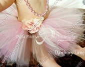 Pink Tutu only, Baby Girl Birthday dress up princess, newborn shower gift, photography prop, choose from 0,3,6,9,12,18,24 months -CREAM SODA