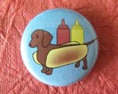 Pinback Button or Magnet - Weenie Dog - Dachshund Dachsund Doxin Dotsun Doxey Doxie, yes they're all the same dog