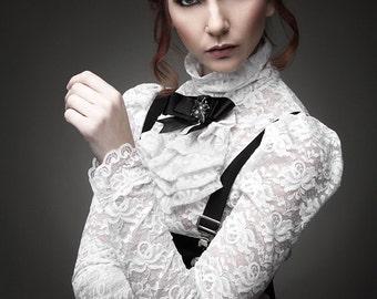 White Edwardian lace top