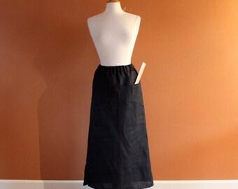 handmade to measure simple linen skirt