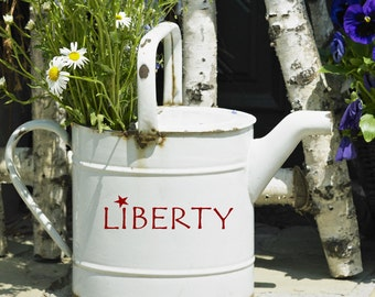 4th Of July Liberty Decal, vinyl decal words, Independence Day, Patriotic decorations, Garden gift, primitive country decor, vinyl lettering