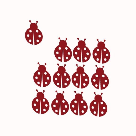 Kids Valentines Stickers, Ladybug Decals, Lady bug Sticker Set, Valentine Decor, Girls Valentine Gift, School classroom party, Birthday Bugs