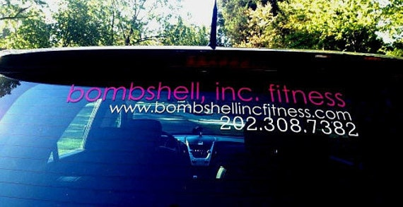 Custom Vinyl Car Decal Business Decals Vehicle Window - Custom made window decals for trucks