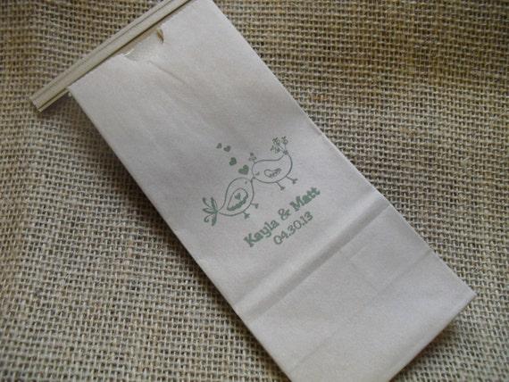 Love Bird Wedding Favor Bags Kraft Paper Coffee Bags Cookie