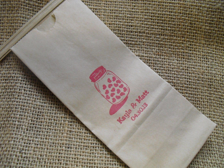 Wedding Favor Bags For Cookies : Mason Jar Wedding Favor Bags Kraft Paper Coffee bags Cookie