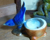 Vintage American Art Pottery Figural Blue Bird Planter