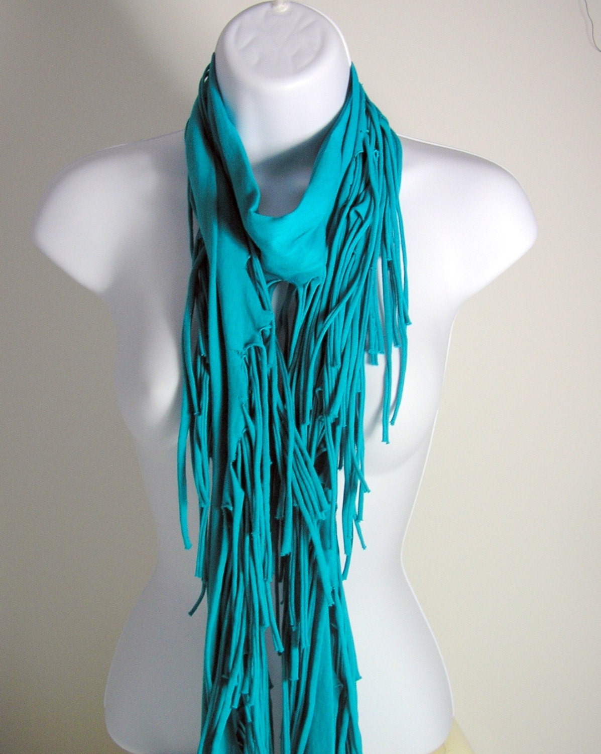 aqua blue fringed scarf t shirt scarves turquoise by