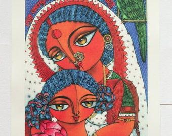 Mother-daughter MAXI print
