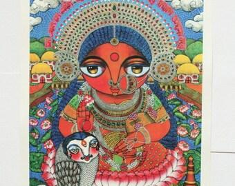 Maa Lokkhi Lakshmi Goddess of wealth MAXI print