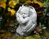 Precious Baby Sculpture Memorial Concrete Outdoor Garden Statue